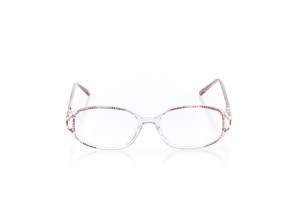 Women Full Frame Plastic  Claire: 16-35 Clear & Rose 2006350