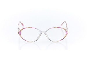 Women Full Frame Plastic  Claire: 16-38 Crystal & Pink 2006356
