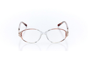 Women Full Frame Plastic  Claire: 16-42 Clear & Brown 2006364
