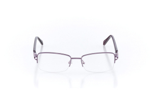 Women Semi Rimless Metal  Claire: 16-64 Purple 2007551