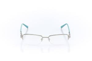 Women Semi Rimless Metal  Claire: 16-67 Teal & Silver 2007556