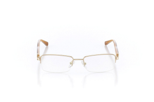 Women Semi Rimless Metal  Christian of Paris: 16-06 Gold & Brown 2005030