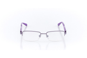 Women Semi Rimless Metal  Christian of Paris: 16-06 Purple  2005029