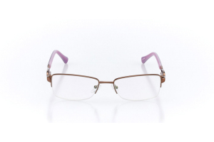 Women Semi Rimless Metal  Christian of Paris: 16-13 Brown & Pink 2005051
