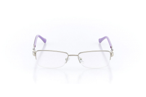 Women Semi Rimless Metal  Christian of Paris: 16-13 Silver & Purple 2005052