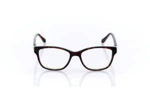 Women Full Frame Plastic  Christian of Paris: 16-18 Dark Tortoiseshell 2005066