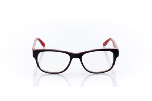 Women Full Frame Plastic  Christian of Paris: 16-27 Black & Red 2005094