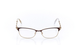Women Full Frame Metal  Christian of Paris: 16-36 Matte Brown & Gold 2007885