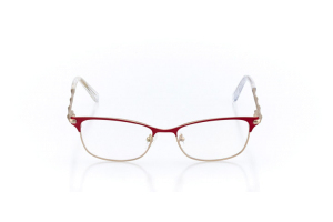 Women Full Frame Metal  Christian of Paris: 16-36 Matte Red & Gold 2007884