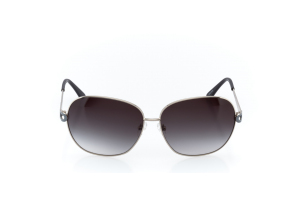Women Full Frame Metal  Christian of Paris: 17-03 Silver & Black & Gray w/ Black Gradient Tint 2008681