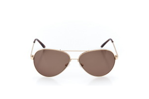 Women Full Frame Metal  Christian of Paris: 17-04 Gold & Tortoise w/ Light Brown Tint 2008682