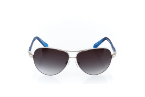 Men Full Frame Metal  Christian of Paris: 17-05 White & Silver & Lapis w/ Black Gradient Tint 2008684