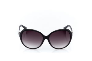 Women Full Frame Plastic  Christian of Paris: 17-08 Black & Silver w/ Black Gradient Tint 2008693