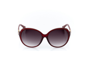 Women Full Frame Plastic  Christian of Paris: 17-08 Scarlet & Gold & Maroon w/ Black Gradient Tint 2008695