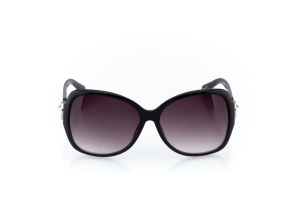 Women Full Frame Plastic  Christian of Paris: 17-09 Black & Silver w/ Black Gradient Tint 2008697