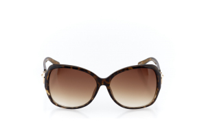 Women Full Frame Plastic  Christian of Paris: 17-09 Tortoise & Gold w/ Brown Gradient Tint 2008696