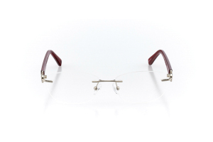 Men Rimless Technology  Elite: 16-121 Silver & Scarlet Red 2007647