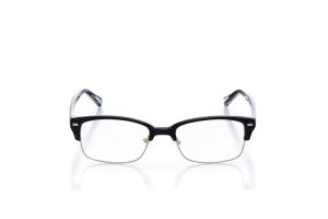 Men Semi Rimless Plastic  Franklin Bobby: 15-03 Black & Gray Marble 2002864