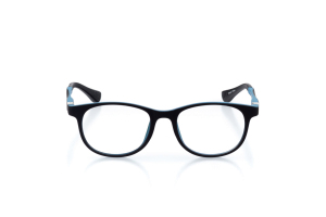 Men Full Frame Plastic  GENZ: 16-05 Matte Black & Cerulean Blue 2006749