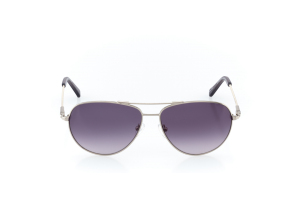 Women Full Frame Metal  Impression: 16-37 Silver & Clear Gray w/ Black Gradient Tint 2007841