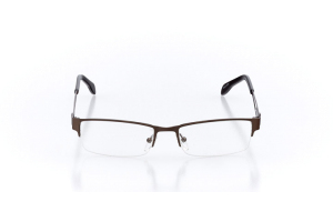 Men Semi Rimless Metal  Leo: 16-02 Dark Brown & Gunmetal 2005671