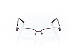 Men Semi Rimless Metal  Leo: 16-65 Brown & Gunmetal 2007940