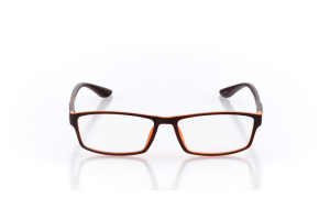 Men Full Frame Plastic  Maxim: 16-06 Matte Brown & Orange 2005515