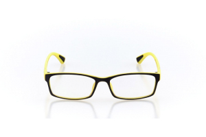 Men Full Frame Plastic  Maxim: 16-54 Matte Black & Yellow 2007382