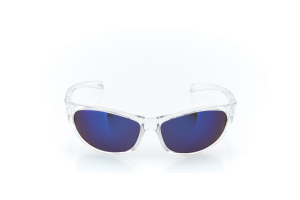 Men Full Frame Plastic  MAXIM: 16-74 Clear & Silver w/ Blue Iridescent Tint 2008191