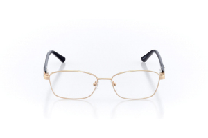 Women Full Frame Metal  Milan: 16-10 Matte Gold & Navy 2005447