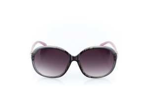 Women Full Frame Plastic  MILAN: 17-05 Clear Gray & Lavender Purple & Silver w/ Black Tint 2008982