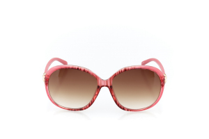Women Full Frame Plastic  MILAN: 17-05 Clear Punch Pink & Watermelon Pink & Gold w/ Brown Tint 2008867