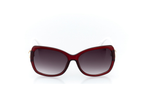 Women Full Frame Plastic  MILAN: 17-09 Garnet Red & White & Gold w/ Black Gradient Tint 2009001
