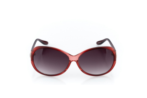 Women Full Frame Plastic  MILAN: 17-10 Clear Red & Clear Scarlet Red & Gold w/ Black Gradient Tint 2009004
