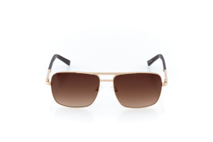 Men Full Frame Metal  Prince & Channel: 17-01 Gold & Brown w/ Brown Gradient Tint 2011319