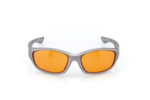 Men Full Frame Plastic  Swiss: 16-36 Matte Silver w/ Orange Tint 2007843