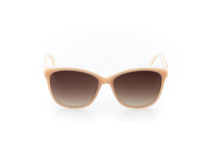 Women Full Frame Plastic  Swiss: 15-17 Sepia Tan & Coconut White w/ Brown Gradient Tint 2002306