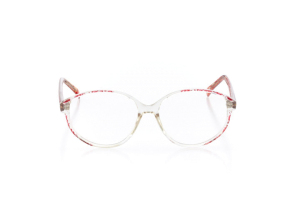 Women Full Frame Plastic  VC: W06 Clear & Red 2003832