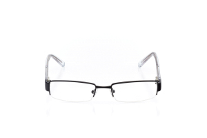 Men Semi Rimless Metal  Y13: 16-12 Black & Silver & Clear 2006192