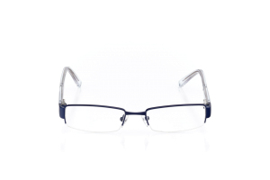 Men Semi Rimless Metal  Y13: 16-12 Admiral Blue & Silver & Clear 2006193
